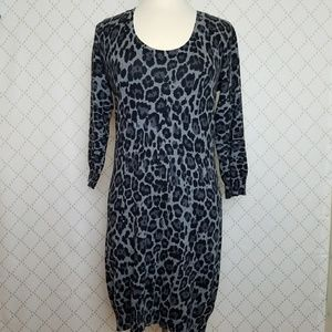 BANANA REPUBLIC Animal Print Sweater Dress
